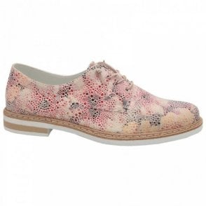 Rieker Women's Multi-print Lace Up Brogue