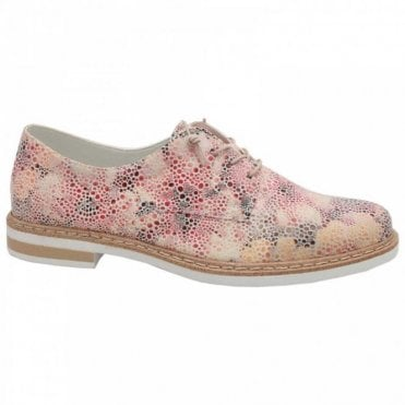 Women's Multi-print Lace Up Brogue