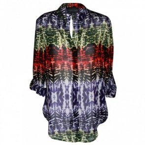 Women's Multi Print Long Sleeve Top