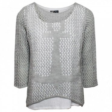 Women's Open Knit Layered Jumper