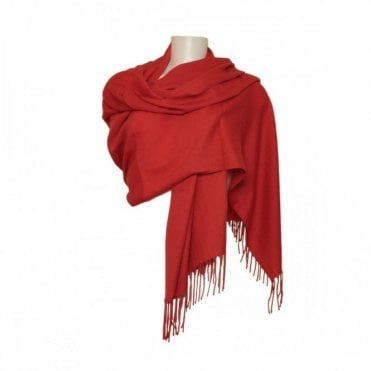 Women's Pashmina With Frill Edge Detail
