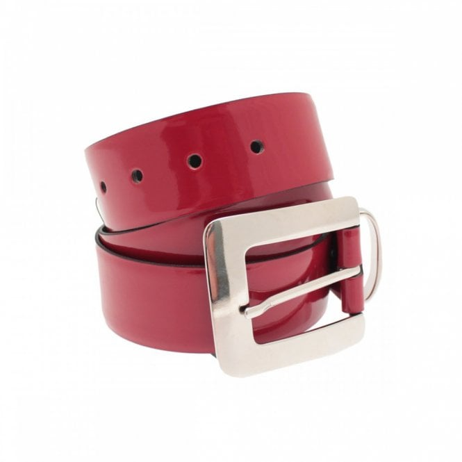Stephen Collins Women's Patent Leather Belt With Buckle