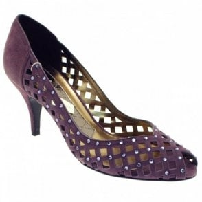 Women's Peep Toe High Heel Court Shoe