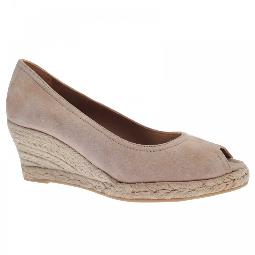 castell peep toe wedge court shoe