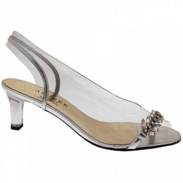 Womens Perspex High Heel Peep Toe Sandal