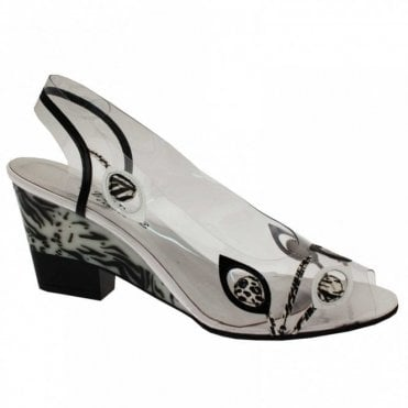 Women's Perspex Wedge Sandal