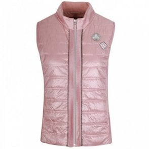Just White Women's Pink Padded Gilet