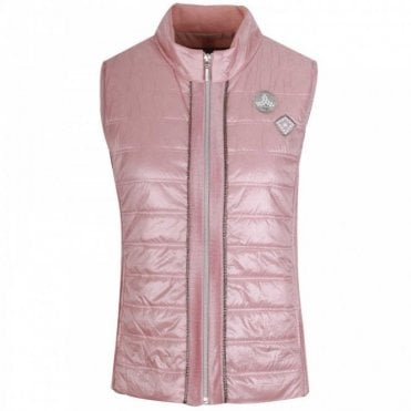 Women's Pink Padded Gilet