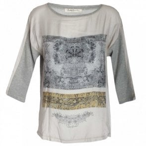 Women's Printed 3/4 Sleeve Top