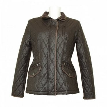 Women's Quilted Wax Effect Jacket