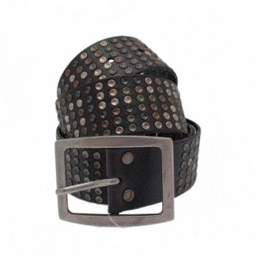 Women's Rivet Detail Silver Buckle Belt