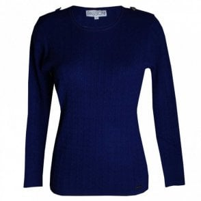 Women's Round Neck Fine Knit Jumper