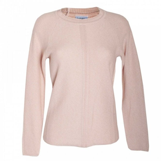 Faber Women's Round Neck Open Knit Jumper
