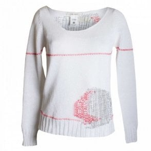Women's Round Neck Open Knit Jumper