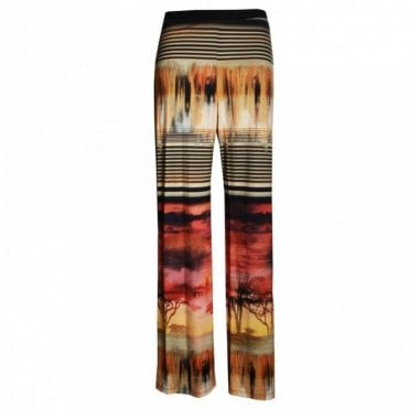Women's Safari Print Jersey Trousers