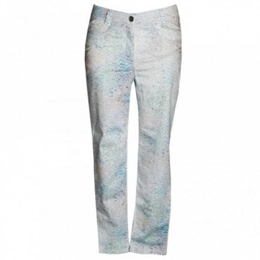 Women's Scale Design Printed Trousers