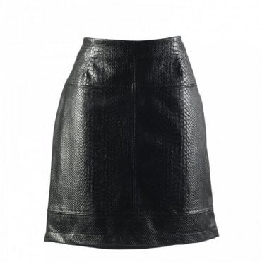 Women's Short Faux Leather Skirt