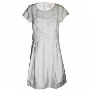 Paola Collection Women's Short Sleeve A Line Dress