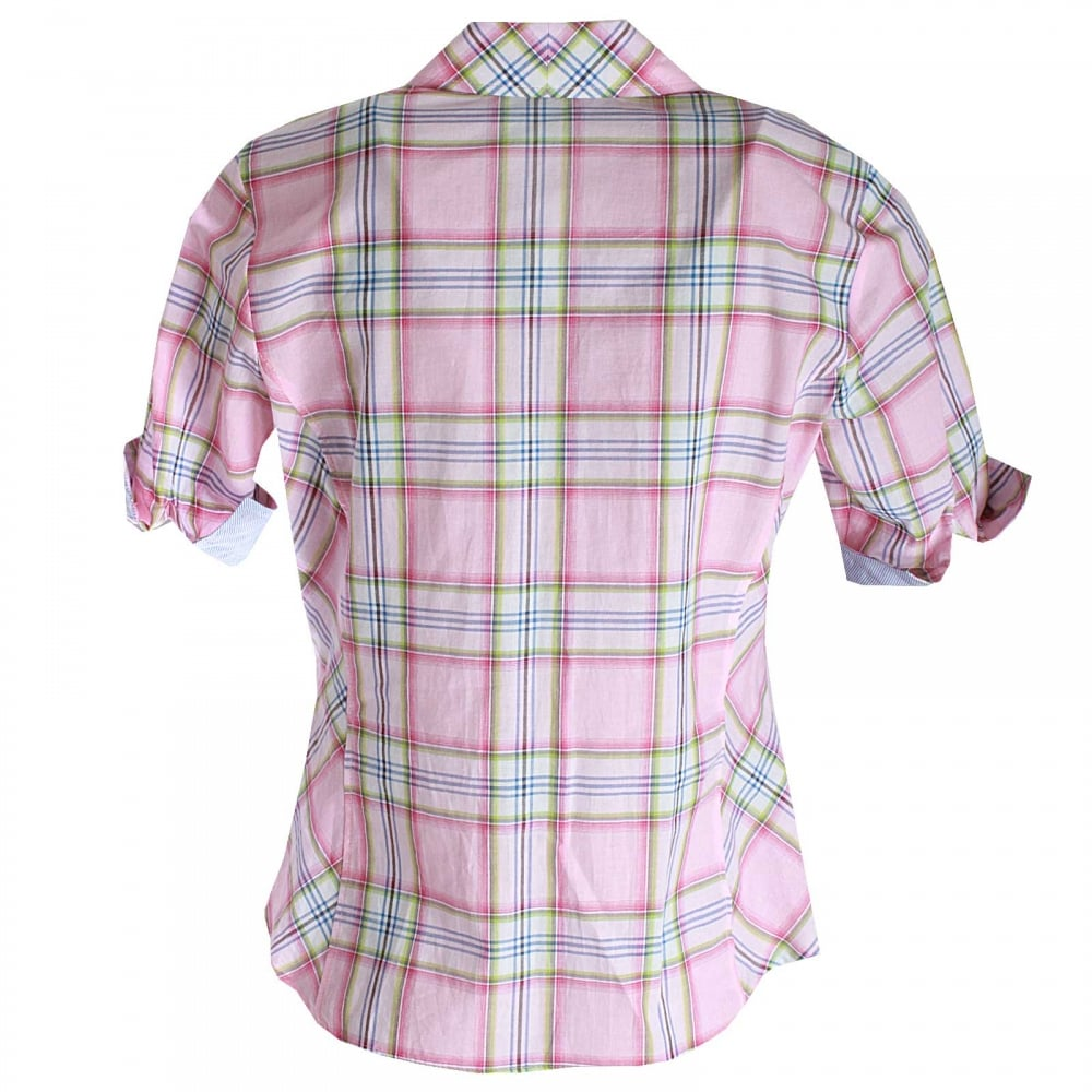 a815c048033 Women s Short Sleeve Checked Shirt By Just White At Walk In Style