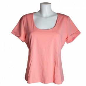 Women's Short Sleeve Cotton Cuff T-shirt