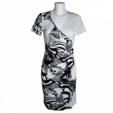 Women's Short Sleeve Cross Over Dress