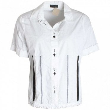 Women's Short Sleeve Frill Detail Shirt