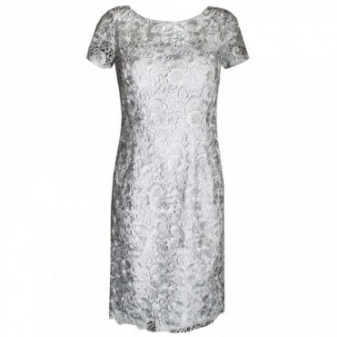 Women's Short Sleeve Lace Shift Dress