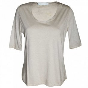 Women's Short Sleeve Plain T- Shirt