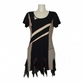 Women's Short Sleeve Stripe Tunic