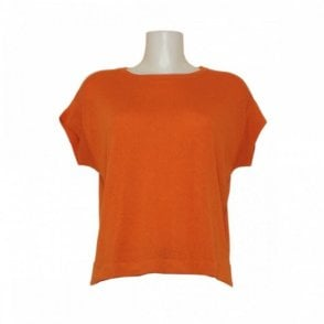 Oui Women's Short Sleeved Fine Knit Top