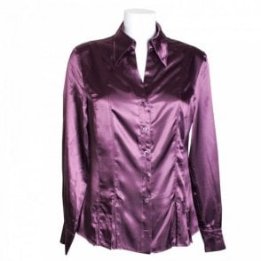 Women's Silky Long Sleeve Blouse