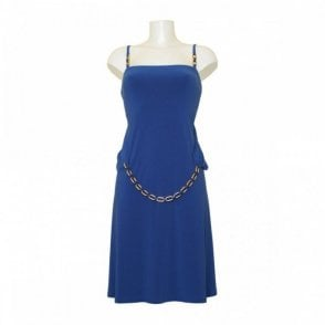 Women's Sleeveless Dress With Chain Belt