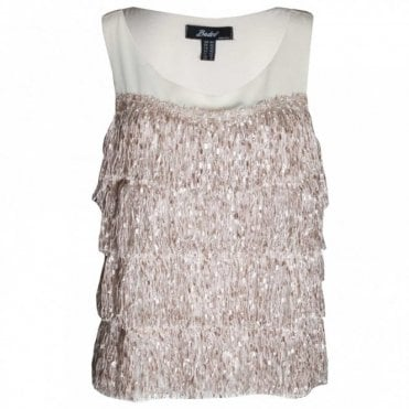 Women's Sleeveless Fringe Top