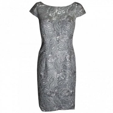 Women's Sleeveless Lace Shift Dress