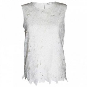 Oui Women's Sleeveless Lace Top