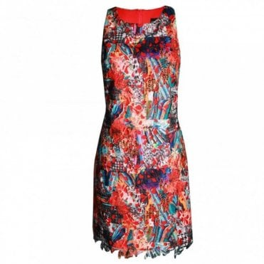 Women's Sleeveless Multi Print Dress