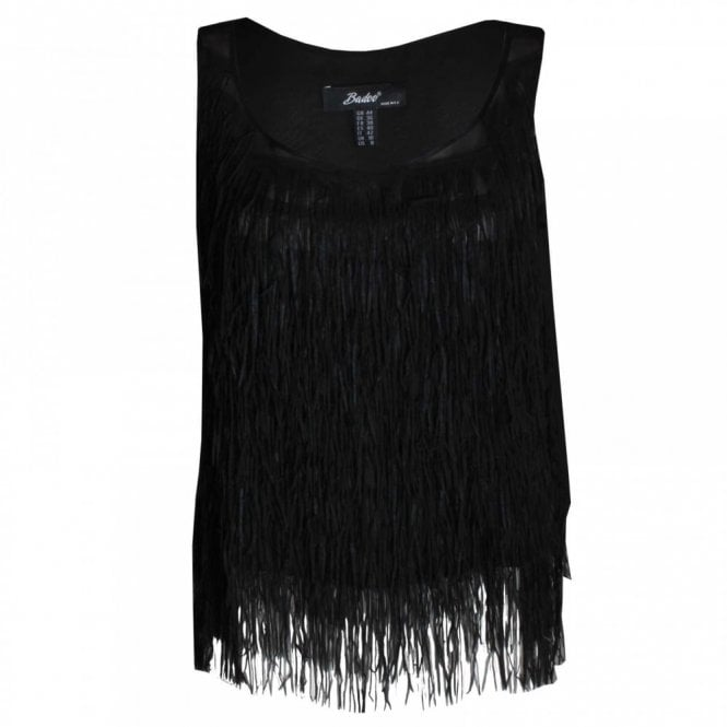 Badoo Women's Sleeveless Tassle Top