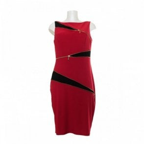 Women's Sleeveless Zip Detail Dress