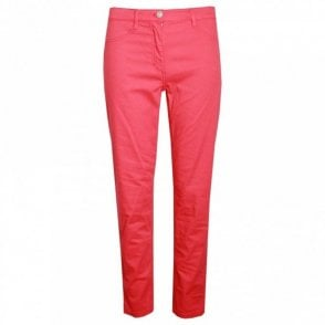 Women's Slim Leg Stretch Cotton Trousers