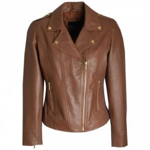 Women's Soft Brown Leather Jacket