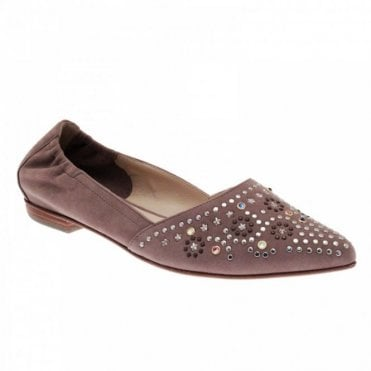 Women's Star Studded Flat Moccasin Shoe