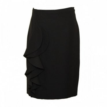 Women's Straight Skirt With Side Pleat