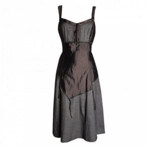 Women's Strap Dress With Contrast Panels