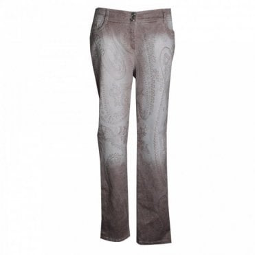 Women's Stretch Straight Leg Print Jeans