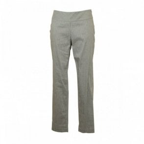Women's Stripe Cotton/linen Trousers