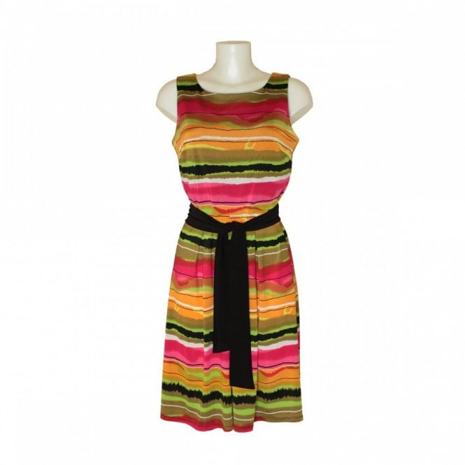 Frank Lyman Women's Stripe Dress With Tie Belt