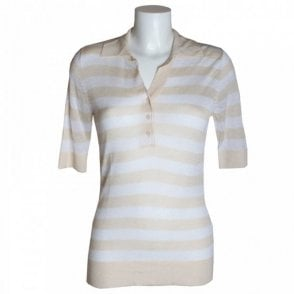 Women's Stripped Short Sleeve Top