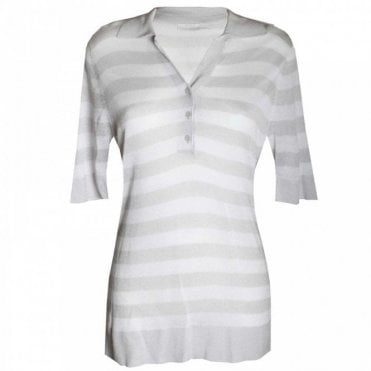 Brax Women's Stripped Short Sleeve Top