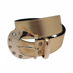 Women's Stud Detail Belt With Buckle