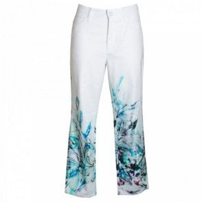Women's Summer Print Crop Jeans
